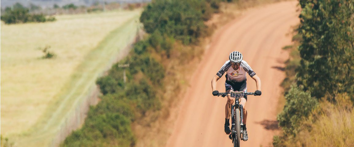 Christoph Sauser (1st) during the 2017 Fairview Attakwas Extreme MTB Challenge. Photo by Ewald Sadie.